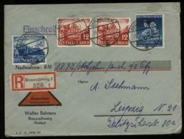 WW II DR R - NN - Briefumschlag : Gebraucht Braunschweig - Leipzig 1941, Bedarfserhaltung. - Alemania