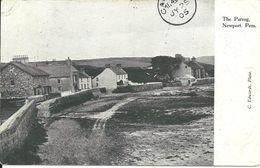 THE PARROG - NEWPORT - PEMBROKESHIRE - WITH NEWPORT R.S.O. RAILWAY POSTMARK - Pembrokeshire