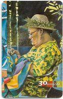 French Polynesia - OPT - Les Mamas #2, Gem1A Symmetr. Black, 03.1998, 30Units, 20.000ex, Used - Polinesia Francese
