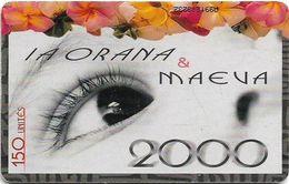 French Polynesia - OPT - La Orana 2000, Gem1A Symmetr. Black, 01.2000, 150Units, 5.000ex, Used - Polinesia Francese