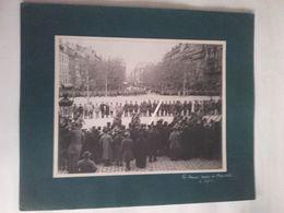1916 Marseille Brigade Russe Défilé Des Troupes Devant Officiers Serbes Anglais Français Tranchée Poilus Ww1 14-18  Pho - Guerre, Militaire