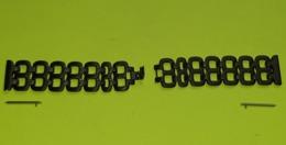 BRACELET Pour Montre - Métal Noir Ajouré - Fermoir à Clips - Taille 22 - Montage Rapide - Longueur Total 17.5 Cm - Neuf - Juwelen & Horloges