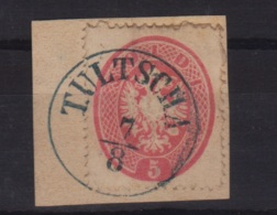 1864 Circa LOMBARDO VENETO Bollo Circolare Singolo TULTSCHA (Romania) Annullo Completo Su Frammento Affrancato S.5 IV Em - Lombardy-Venetia