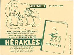 """CAHIERS & COPIES - HERAKLES - AGE DE PIERRE - L'élève """"CELTICON"""" Utilisait Les Menhirs ..................... - Papierwaren"""