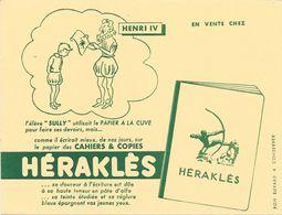 """CAHIERS & COPIES - HERAKLES -  HENRI IV - L'élève """"SULLY"""" Utilisait Le PAPIER A LA CUVE Pour ......................... - Papierwaren"""