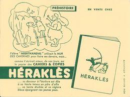 """CAHIERS & COPIES - HERAKLES -  PREHISTOIRE L'élève """" NEERTHANDAL"""" Utilisait Le MUR DES CAVERNES Pour . - Papierwaren"""