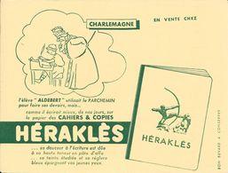 """CAHIERS & COPIES - HERAKLES - CHARLEMAGNE L'élève """"ALDEBERT"""" Utilisait Le PARCHEMIN Pour ............................... - Papierwaren"""