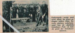 OUDENAARDE..1937.. JULES LACROIX GEWEZEN ONDERLUITENANT VAN DE STEDELIJKE BRANDWEER TEN GRAVE GEDRAGEN - Alte Papiere
