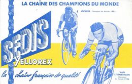 Thème Vélo - SEDIS Yellorex -  LA CHAÎNE DES CHAMPIONS DU MONDE - OCKERS Champion Du Monde 1955 - VAN STEENBERGEN ...... - Sport