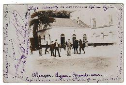 Orne ALENCON Lycée Grande Cour Carte Photo (1903) Belle Animation - Alencon