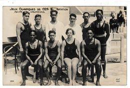 Jeux Olympiques De 1924  Natation Equipe Hawaïenne Carte-photo - Natación