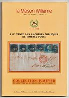 ÉPAULETTES Et MÉDAILLONS De BELGIQUE, Collection P. Meyer, Auction Catalogue, Maison Williame 2000 - Catalogues For Auction Houses
