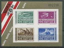 Ungarn 1981 WIPA'81 Wien Block 150 B Postfrisch Geschnitten (C18781) - Hojas Bloque