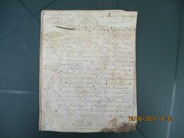 PARCHEMIN DU 12 JUIN 1775 GEN. D'ALENCON VINGT SOLS ENTRE LE SIEUR FRANCOIS ANGLEMENT MARCHAND AUBERGISTE A MOYAUX ET CH - Manuskripte