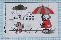UKRAINE / KYIV / Phonecard Ukrtelecom / Rain. Duck. Girl With An Umbrella. 10/97 - Ucraina