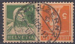 HELVETIA - SUISSE - SVIZZERA - Yvert 159a Usato, Come Da Immagine. - Tete Beche
