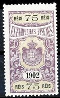 !■■■■■ds■■ Portugal Revenues 1902 75 Réis (*) (x13113) - Unused Stamps