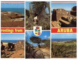 (J 9) Aruba (with Stamps) Greetings - Aruba