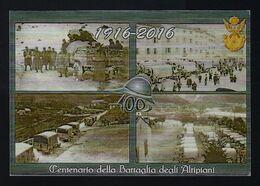 """2016 ITALIA """"CENTENARIO GRANDE GUERRA / BATTAGLIA DEGLI ALTIPIANI"""" KIT ANNULLO 18.05.2016 (ROMA LAURENTINO) - Italie"""