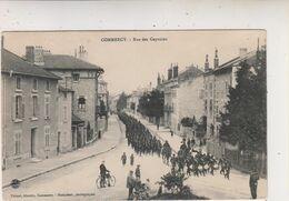 SP- 55 - COMMERCY - La Rue Des Capucins - Defile Militaire  - Timbre - Cachet - 1910 - - Commercy
