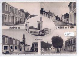 ST-MICHEL-EN-L HERM- CARTE MULTI-VUES DONT HOTEL-CAFE NATIONAL- CIM - Saint Michel En L'Herm