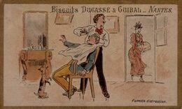 CHROMO    BISCUITS DUCASSE ET GUIBAL...NANTES...FUNESTE DISTRACTION... - Süsswaren