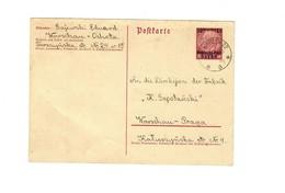 Ganzsache GG P 2 II: 5.2.1940 Von Warschau Ochota Nach W-Praga, Portogerecht - Occupation 1938-45
