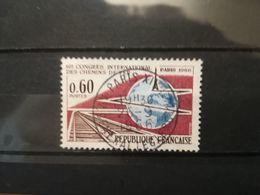 FRANCOBOLLI STAMPS FRANCIA FRANCE 1966 USED CONGRESSO CONGRESS RAILWAY FERROVIE ANNULLO OBLITERE' - France