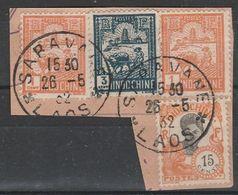 INDOCHINE - LAOS - Oblitération SARAVANE Sur Fragment - Indocina (1889-1945)