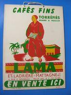- Lama : Cafés Fins Torréfiés Ets Ladriére-Mattagne & Fils  Feluy ( Hainautt ) Belgique - Plaques En Carton