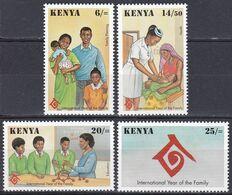 Kenia Kenya 1994 Gesellschaft Society UNO ONU Familie Family Gesundheit Health Erziehung Bildung Education, Mi. 603-6 ** - Kenia (1963-...)