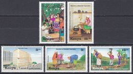 Kenia Kenya 1994 Gesellschaft Society Organisationen Frauen Women Maendeleo Ya Wanawake Haushalt MYWO, Mi. 591-5 ** - Kenia (1963-...)