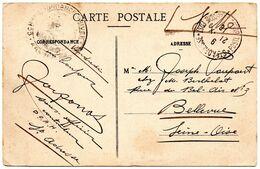 CV Expédiée En Franchise De Ste Adresse (Poste Belge) Vers Bellevue (Franchise) - Belgisch Leger