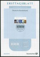 BRD - 2007 ETB 30/2007 - Mi 2618 - 55C  50 Jahe Deutsche Bundesbank - FDC: Hojas