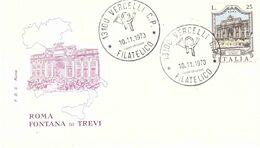 10.11.1973 FONTANA DI TREVI - F.D.C.