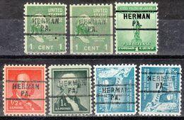 USA Precancel Vorausentwertung Preo, Locals Pennsylvania, Hermann 729, 7 Dif.. - Estados Unidos