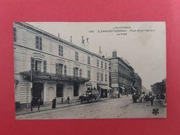 @@@  CPA 63 CLERMONT-FERRAND  PLACE GAILLARD LA POSTE  1914 Cachet   @@@ - Clermont Ferrand