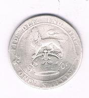 1 SHILLING 1909   GROOT BRITANNIE /6480// - J. 1 Florin / 2 Shillings