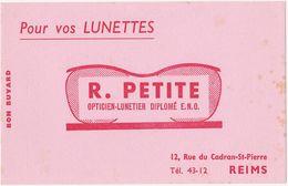 Très Ancien Buvard R. PETITE - OPTICIEN-LUNETIER à REIMS - O