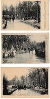 Militaria Alsace Défilé Devant L'ancien  Poteau-frontière 7 Cartes - War 1914-18