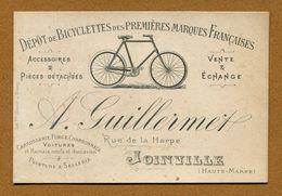"""JOINVILLE  (52) : """" BICYCLETTES A. GUILLERMET, Rue De La Harpe """" - Joinville"""