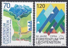 Liechtenstein 2002 Organisationen UNO ONU Berge Mountains Gebirge Umweltschutz Alpen Alps CIPRA, Mi. 1289-0 ** - Nuovi