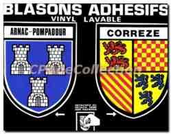 CPSM Arnac Pompadour Correze Blasons Adh�sifs - Francia