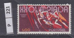 PORTOGALLO       1972Olimpiadi 1,00 Usato - Used Stamps
