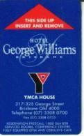 AUSTRALIA YMCA  HOTEL BRISBANE QUEENSLAND  MAGNETIC CARD READ DESCRIPTION !! - Sin Clasificación