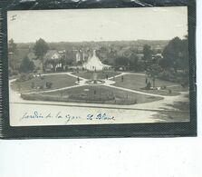 36-LE BLANC- Carte-Photo Animé Du Jardin De La GARE -Photo PERRAGUIN - Le Blanc