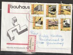 """R.D.A.   Constructions """"Bauhaus""""    Sur Lettre  N° Y&T  2169 à 2174 - Briefe U. Dokumente"""