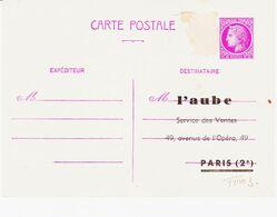 France,  Entier Mazelin 1F50 Repiqué  ( Un Tp Arraché )    R - Cartes Postales Repiquages (avant 1995)