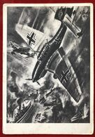 AK . Drittes Reich . Ein Englischer Flugzeugträger Wird Durch Eine Ju 87 Bomberdiert - Weltkrieg 1939-45