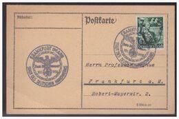Dt- Reich (004123) Postkarte Mit Propagandastempel Frankfurt 30.1.1938, Stadt Des Deutschen Handwerks - Briefe U. Dokumente
